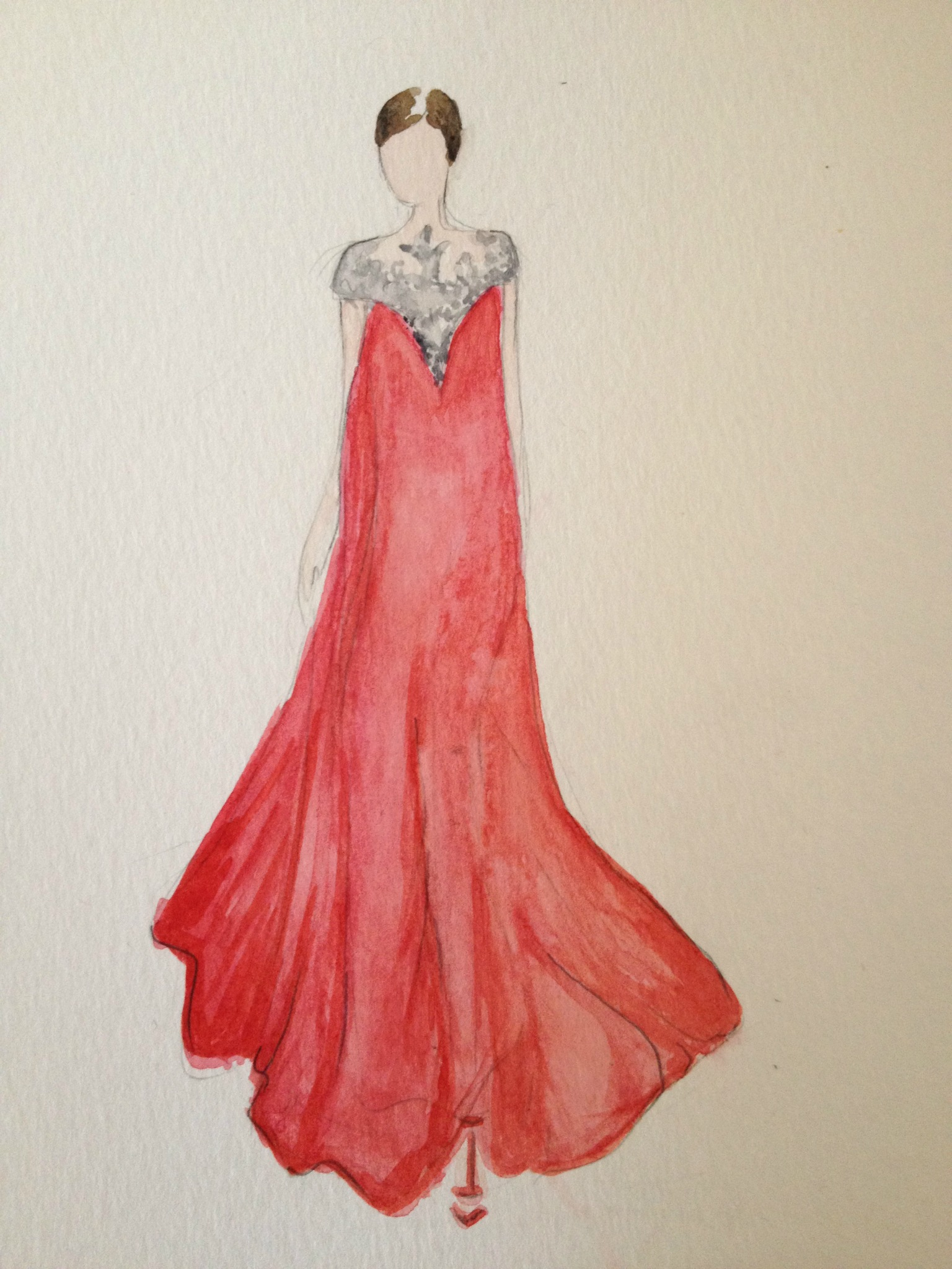 Final embellished watercolors: Silk and Tulle - image 4 - student project