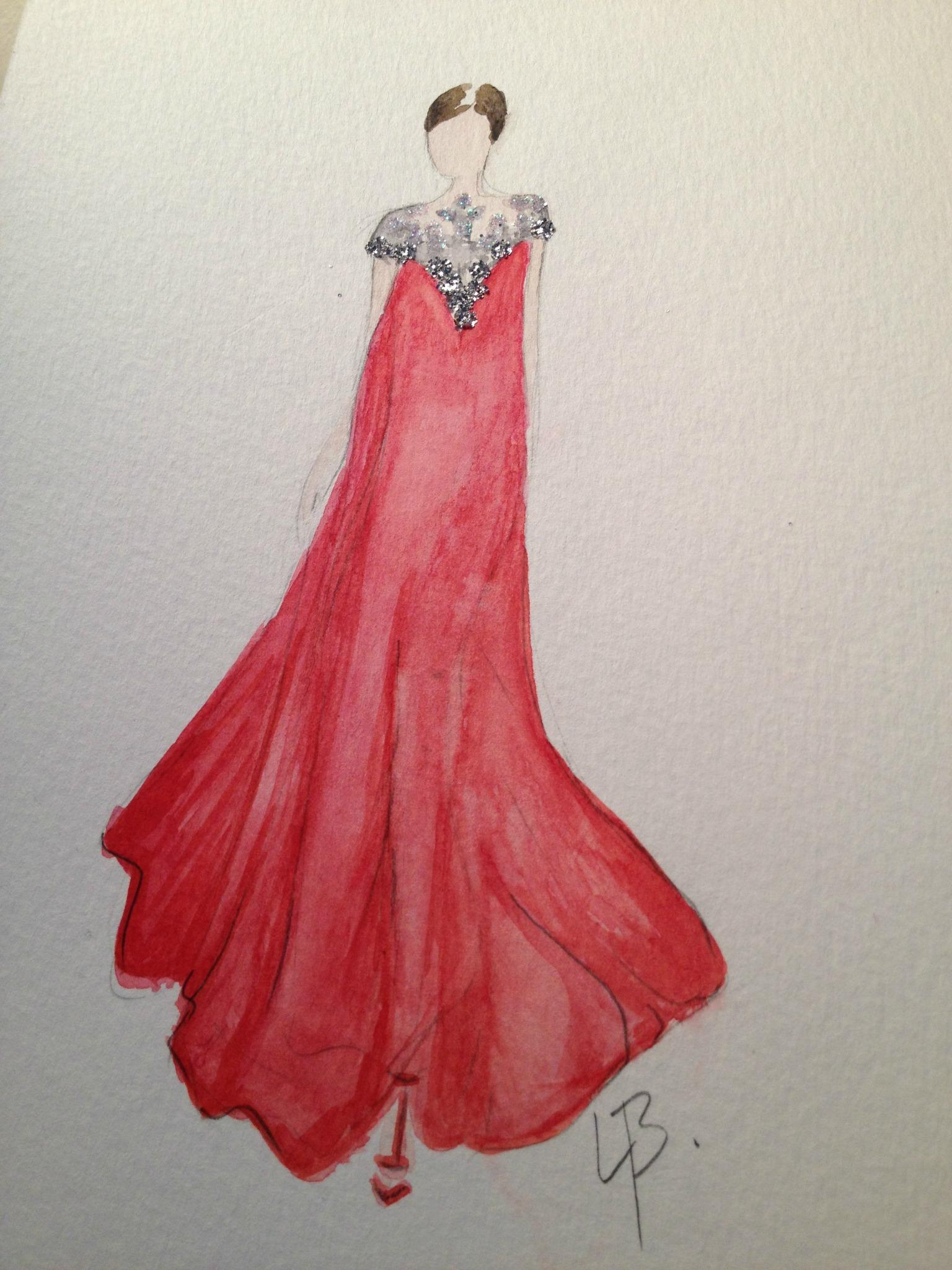 Final embellished watercolors: Silk and Tulle - image 5 - student project