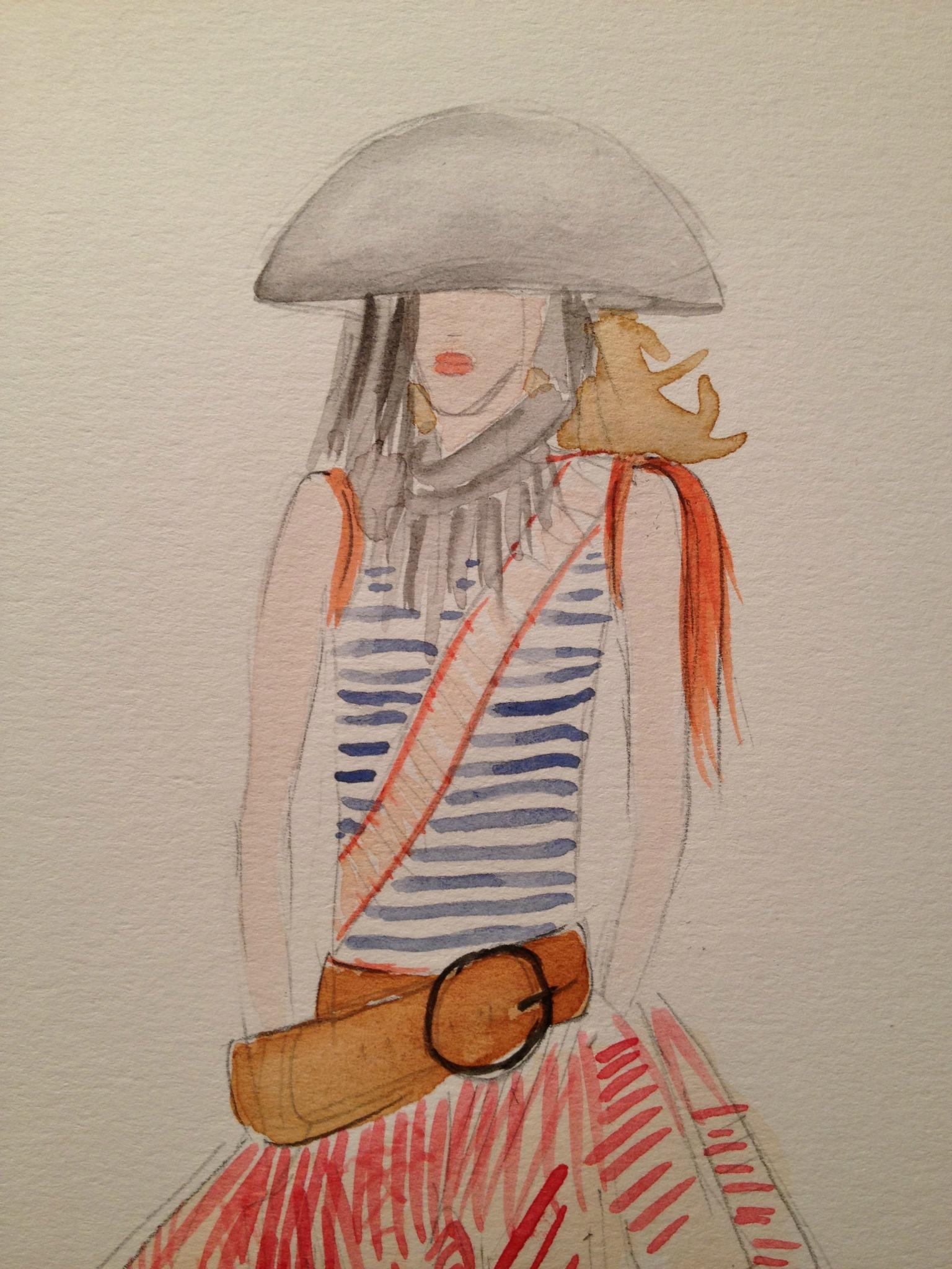 Final embellished watercolors: Silk and Tulle - image 8 - student project