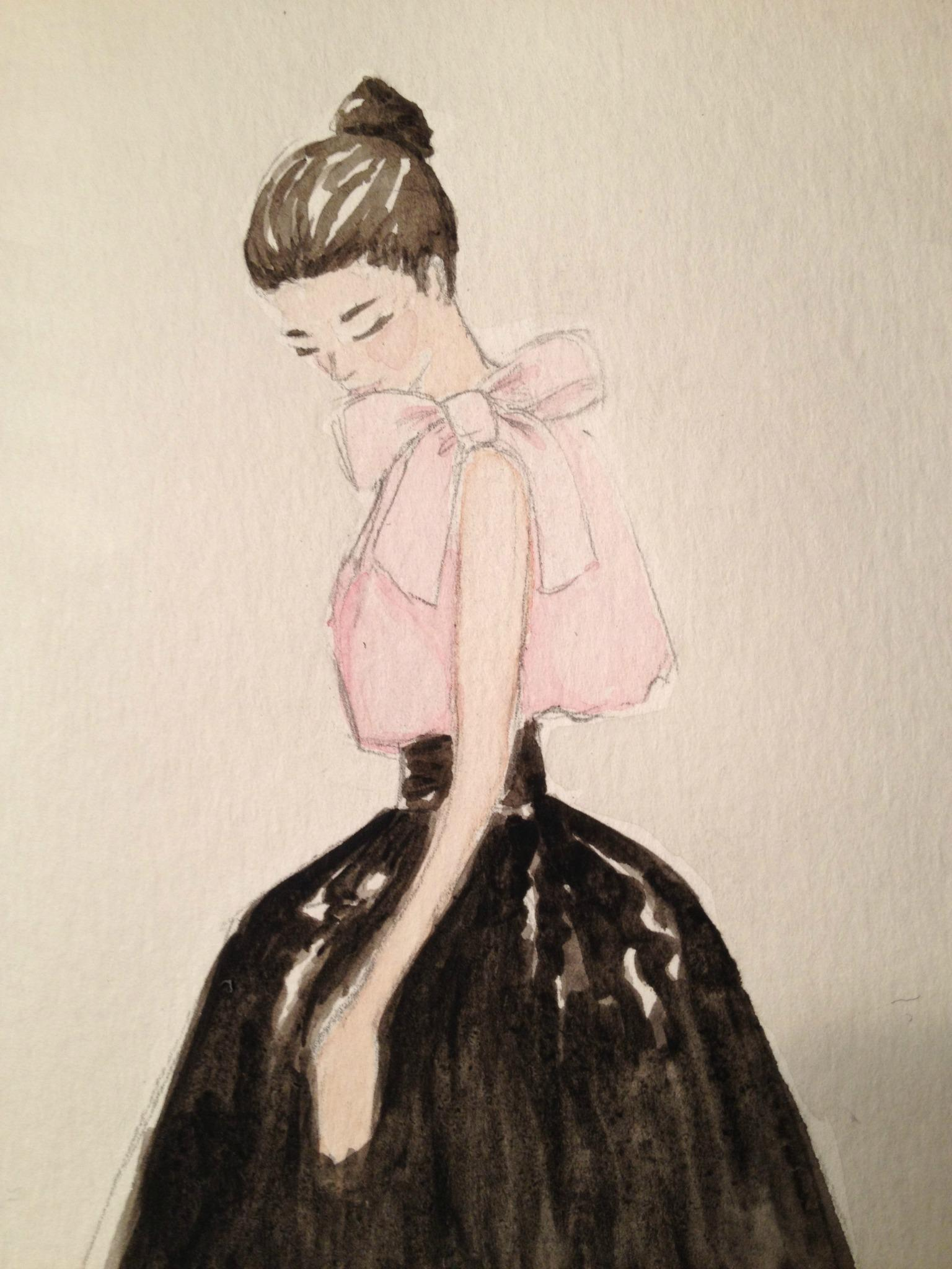 Final embellished watercolors: Silk and Tulle - image 11 - student project