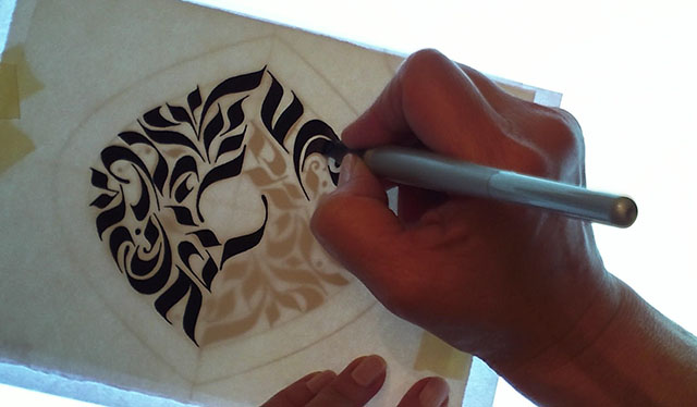 Project Sample: Calligraphy Stroke Tattoo - image 6 - student project