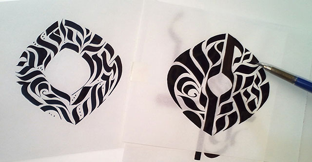 Project Sample: Calligraphy Stroke Tattoo - image 10 - student project
