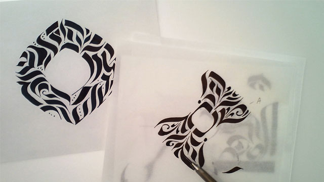 Project Sample: Calligraphy Stroke Tattoo - image 5 - student project
