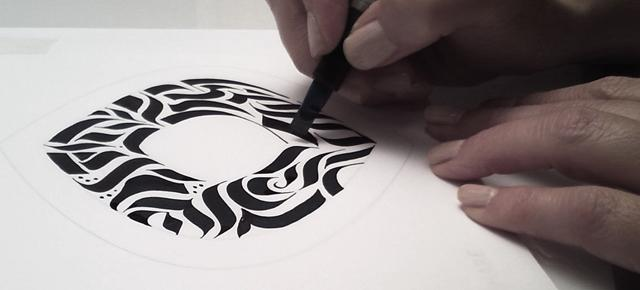 Project Sample: Calligraphy Stroke Tattoo - image 2 - student project