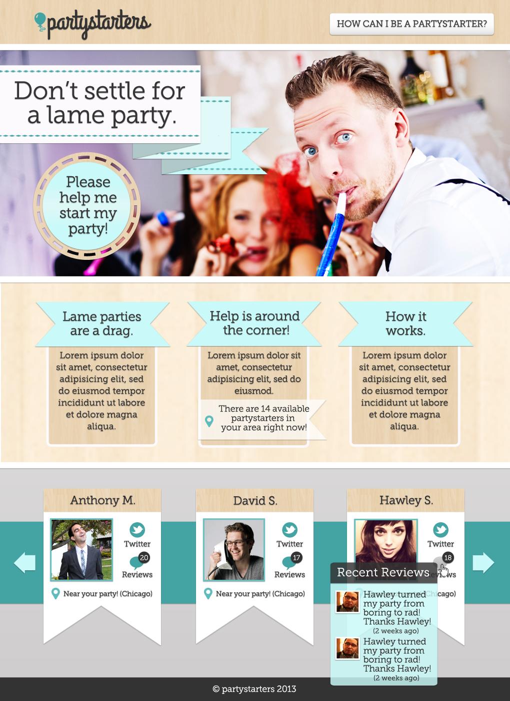 Partystarters website (Update!) - image 2 - student project