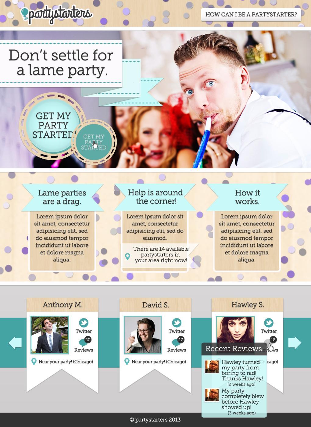Partystarters website (Update!) - image 1 - student project