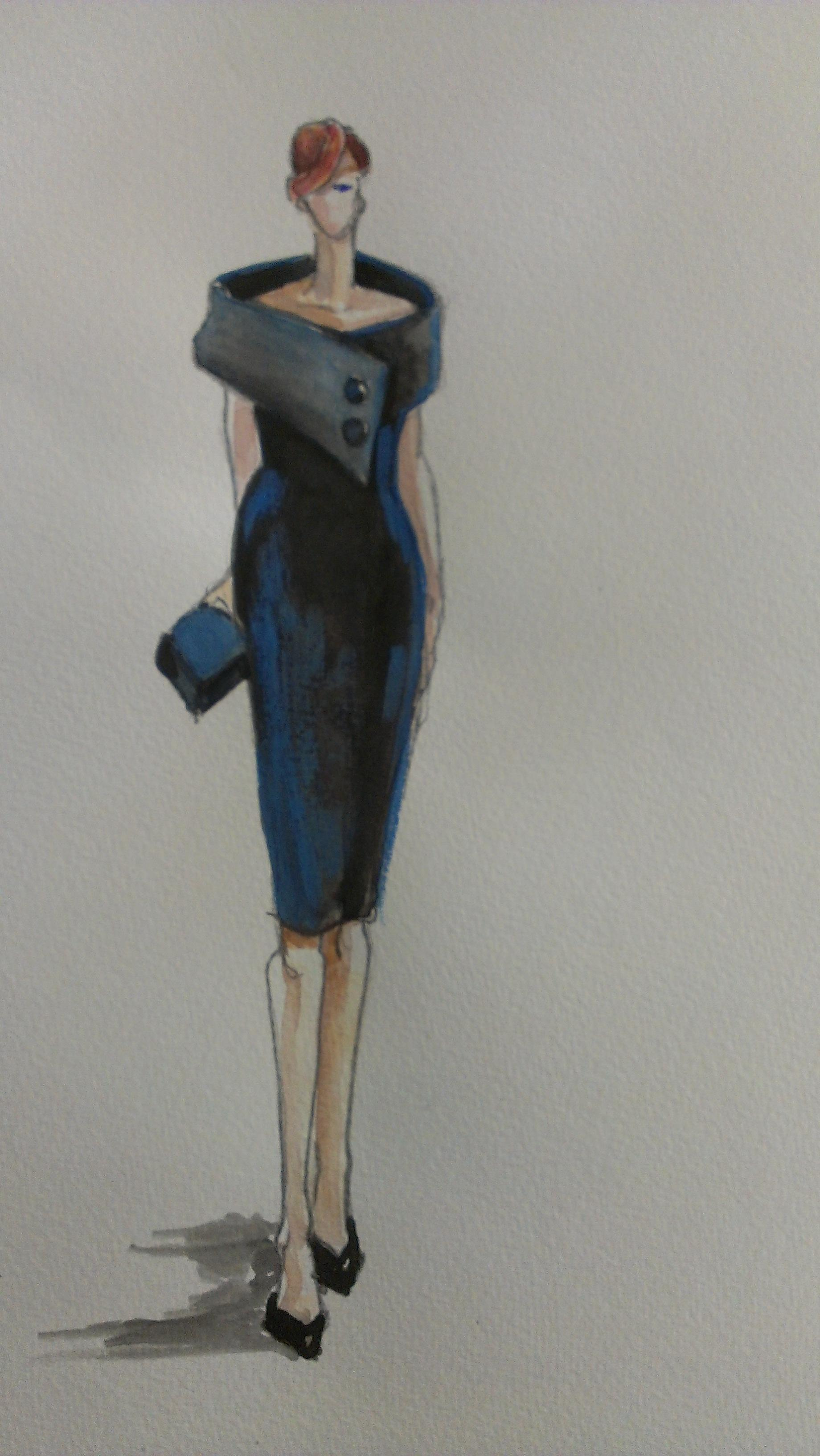 Sketches and Inspirations:  Back in Black - image 2 - student project