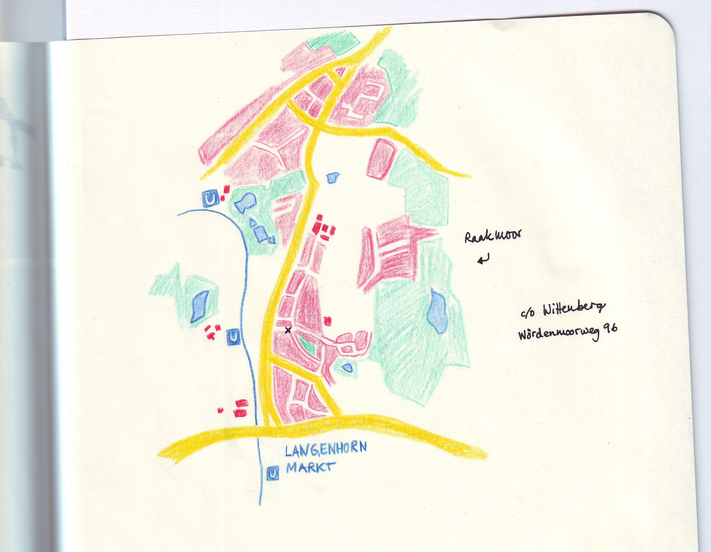 Map of my favorite places in my new hometown HAMBURG, Germany - image 1 - student project