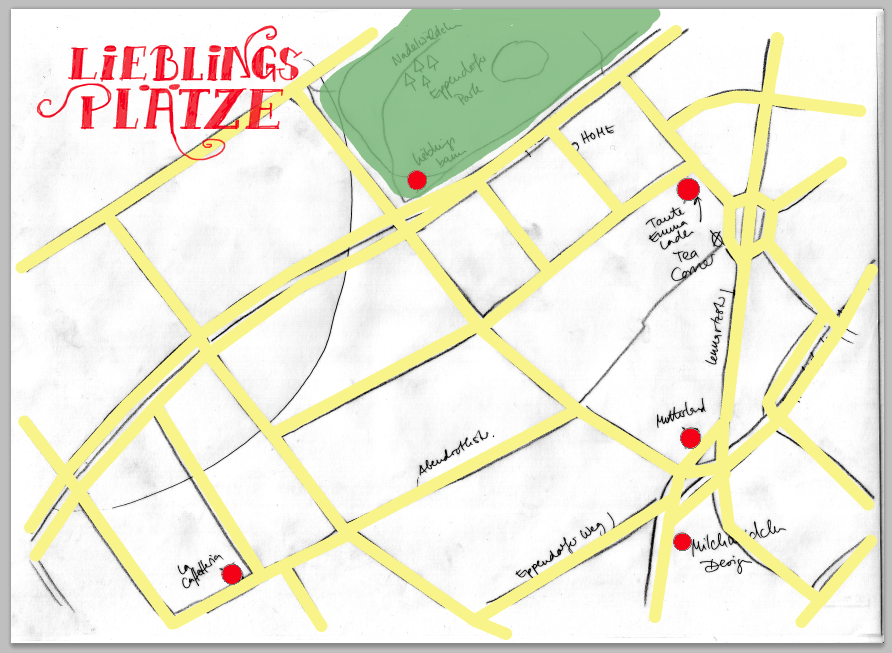 Map of my favorite places in my new hometown HAMBURG, Germany - image 2 - student project