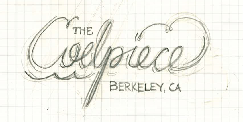 """Lettering for sailboat """"the Codpiece - Berkeley, CA"""" - image 3 - student project"""