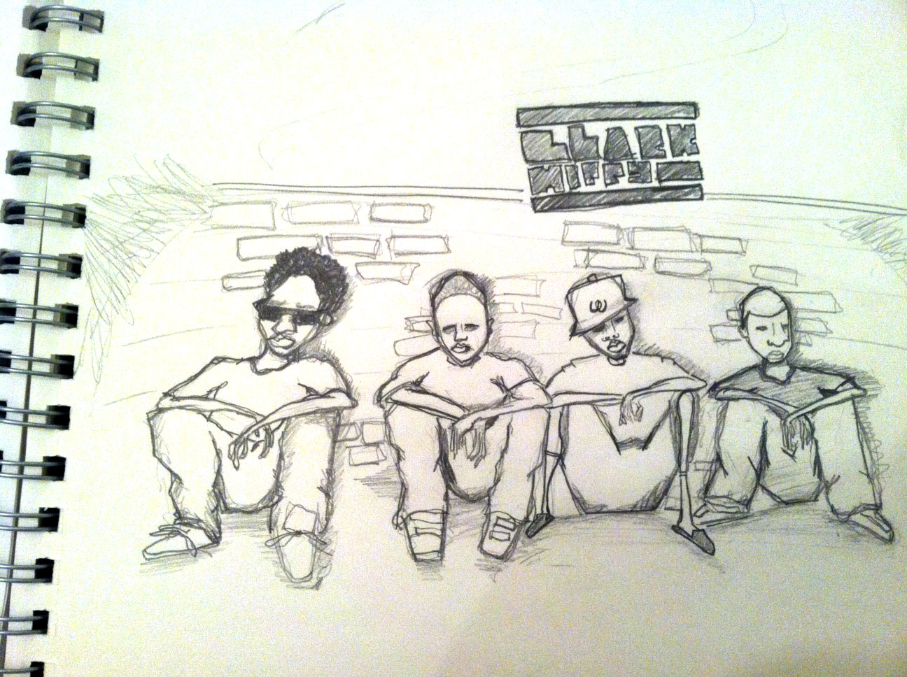 Black Hippy Concert Poster - image 2 - student project