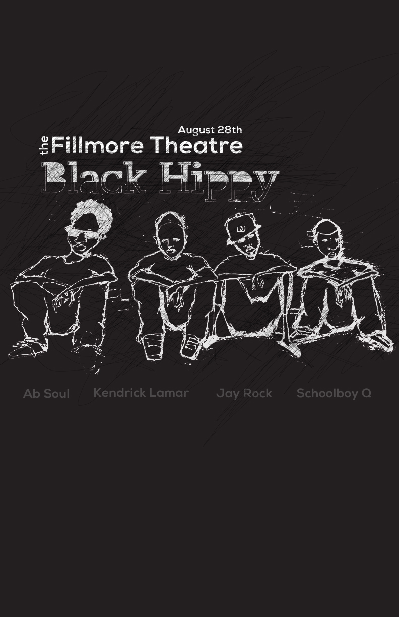 Black Hippy Concert Poster - image 4 - student project