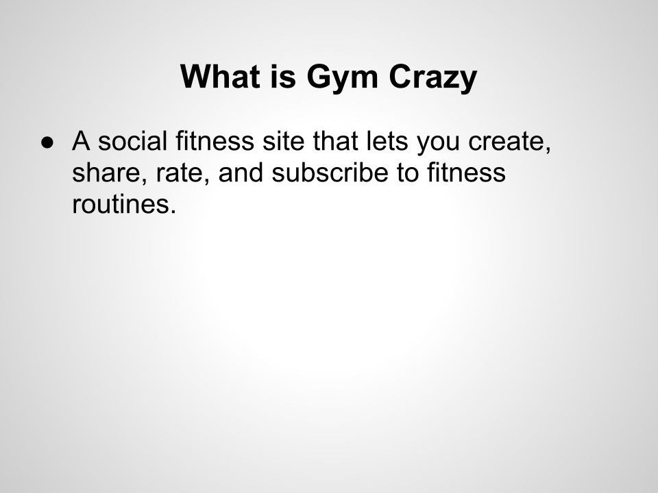 Gym Crazy - image 2 - student project