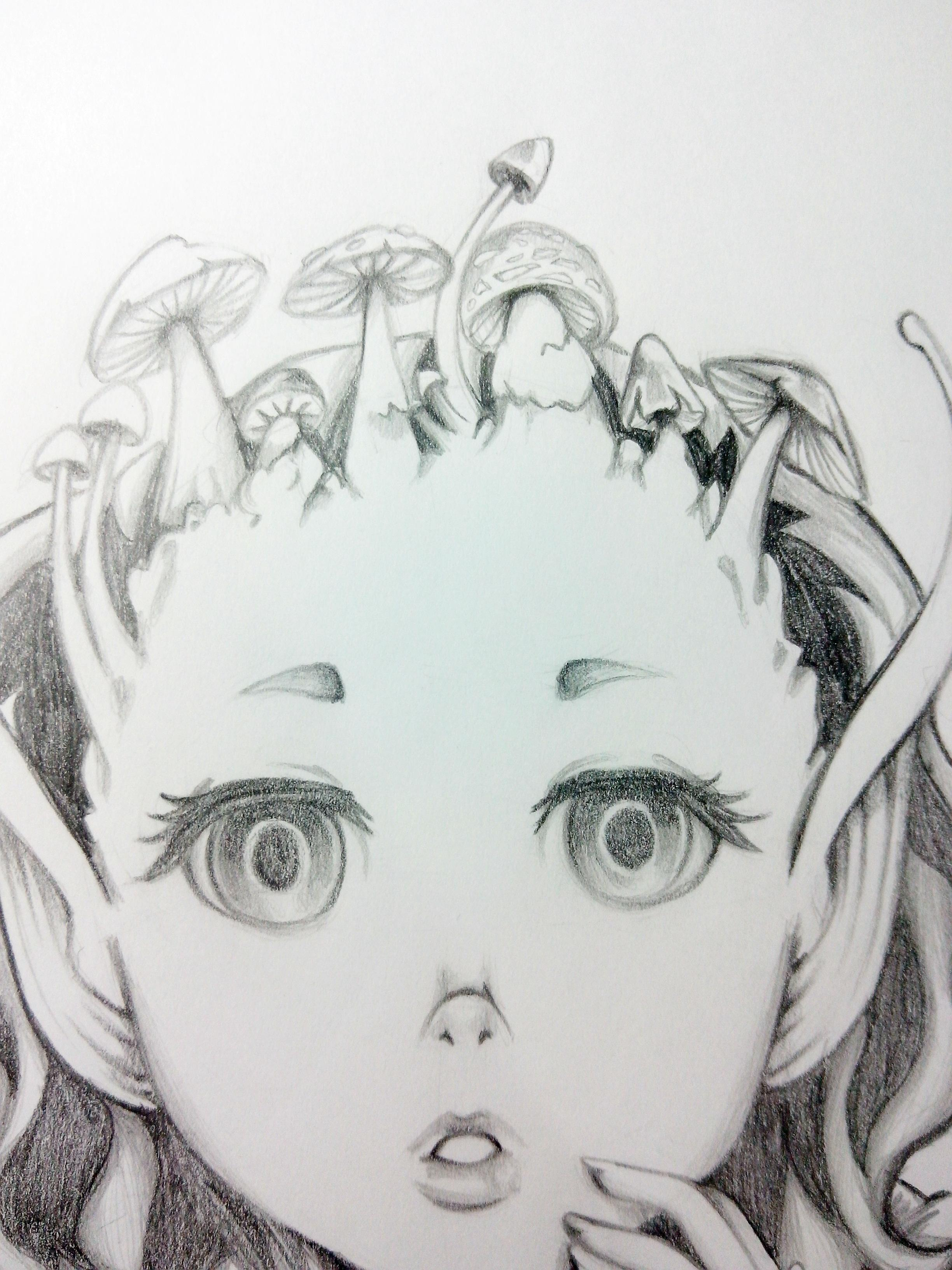 Bat girl with mushrooms topping - image 3 - student project