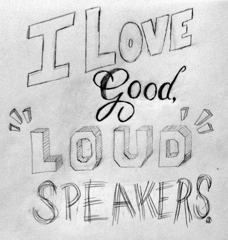 """""""I love good, loud speakers."""" —Brian Eno - image 2 - student project"""