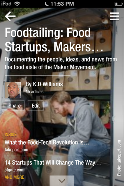 Foodtailing: Food Startups, Makers and Entrepreneurs (previously Under Disruption) - image 1 - student project
