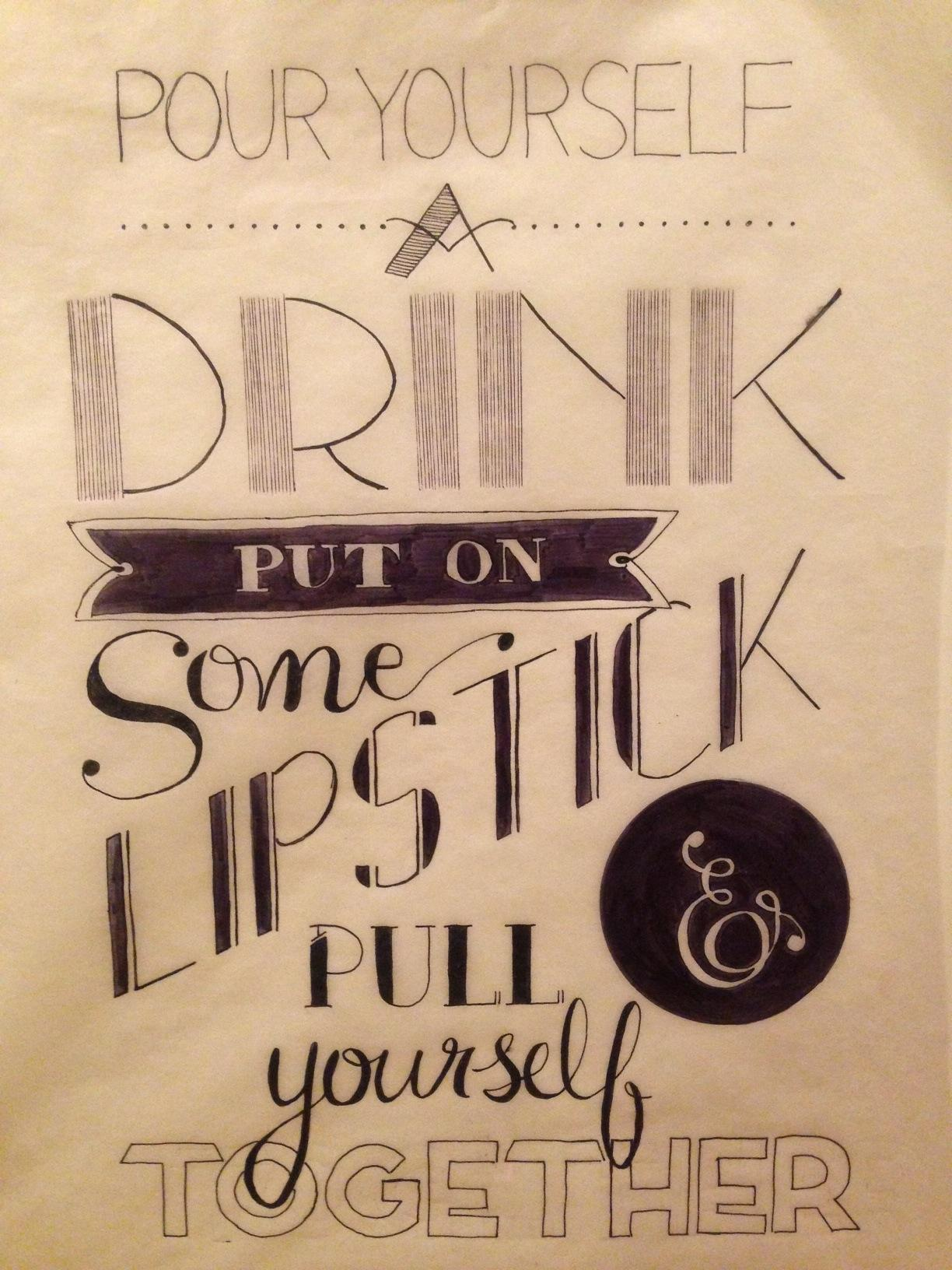 pour yourself a drink.  - image 4 - student project