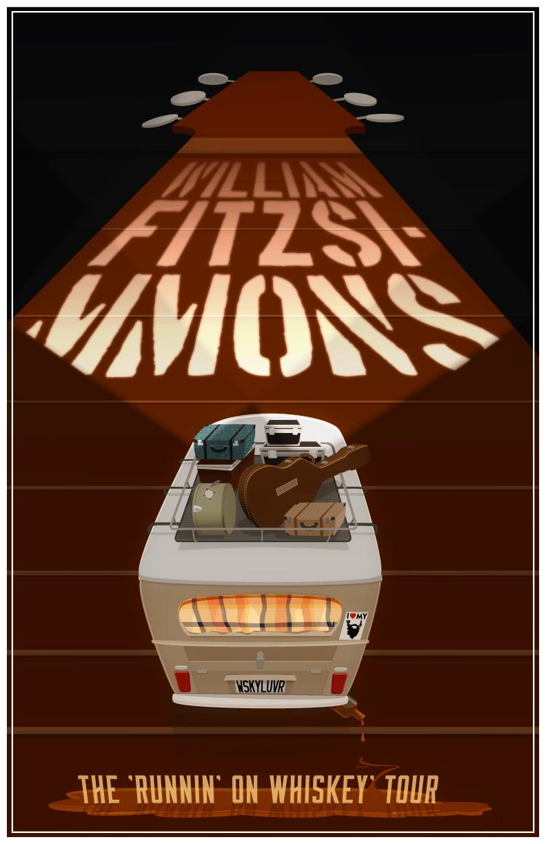 FINAL- William Fitzsimmons Fake Gig Poster - image 2 - student project