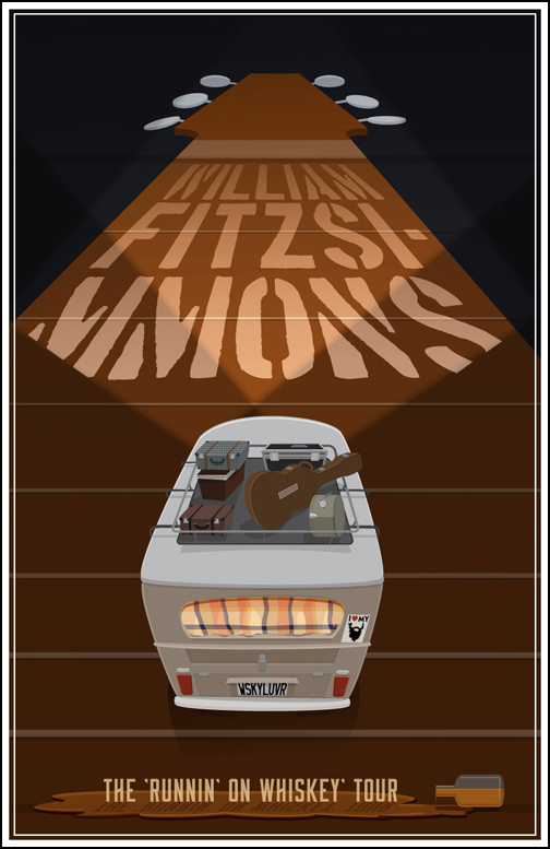 FINAL- William Fitzsimmons Fake Gig Poster - image 4 - student project