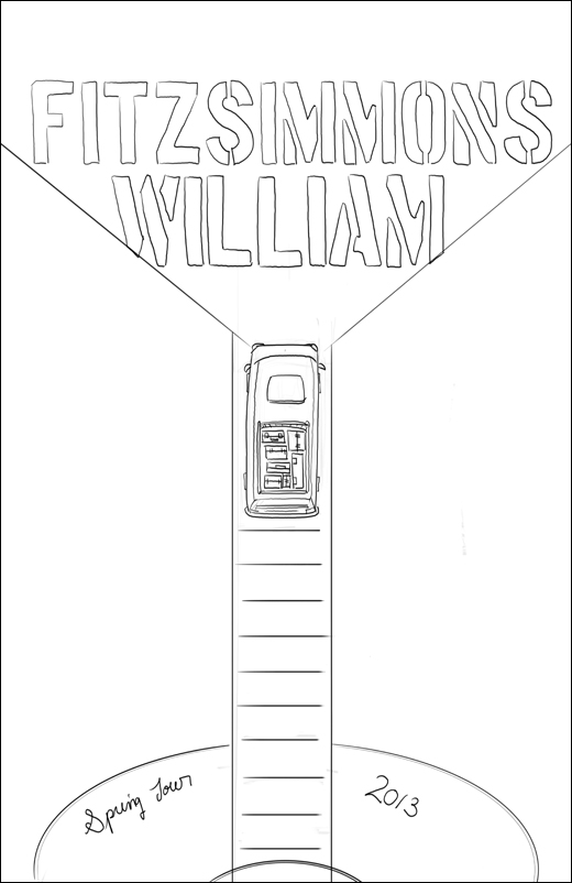 FINAL- William Fitzsimmons Fake Gig Poster - image 8 - student project