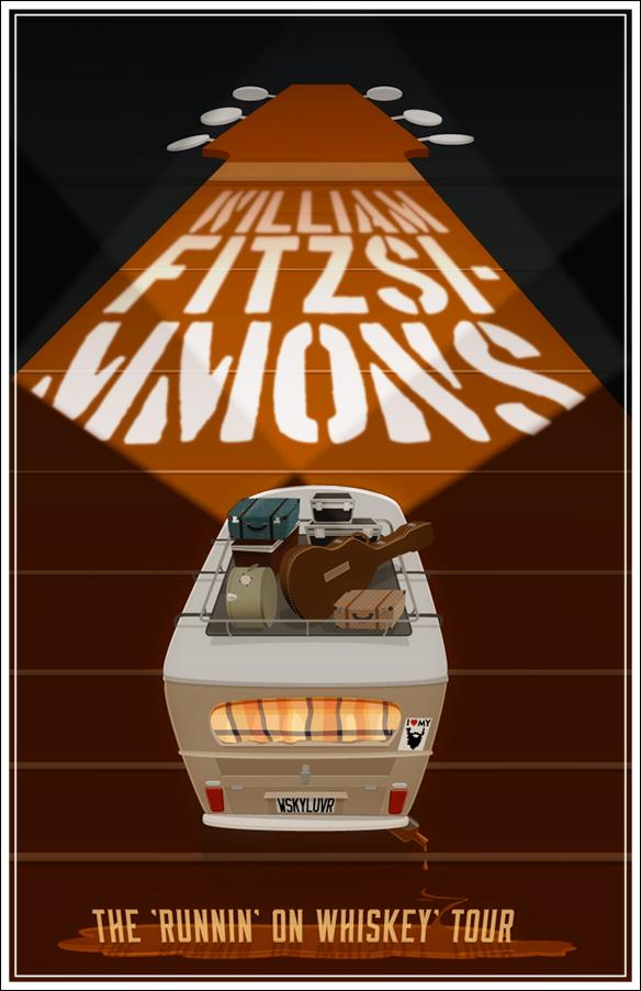 FINAL- William Fitzsimmons Fake Gig Poster - image 1 - student project