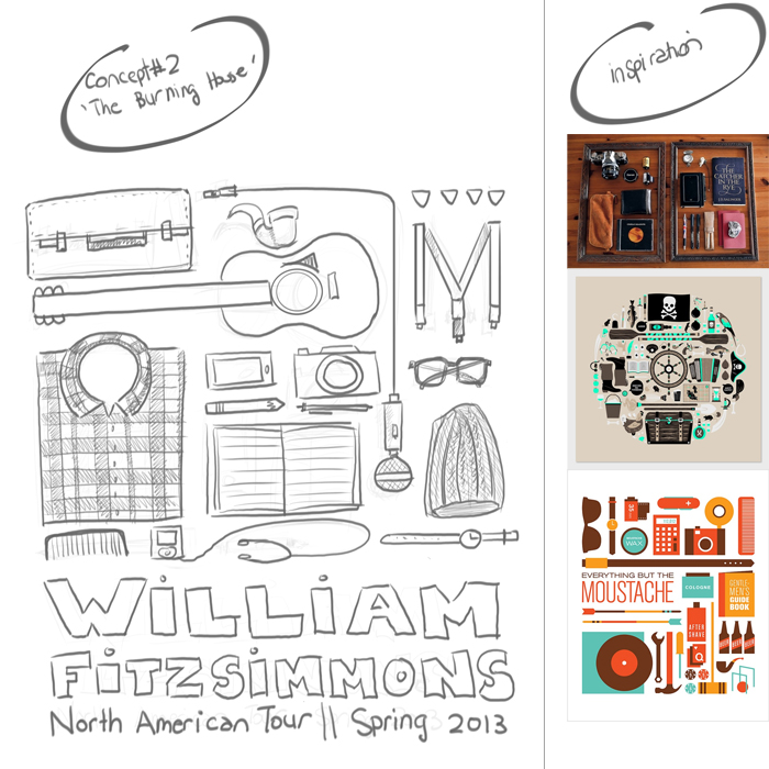 FINAL- William Fitzsimmons Fake Gig Poster - image 11 - student project