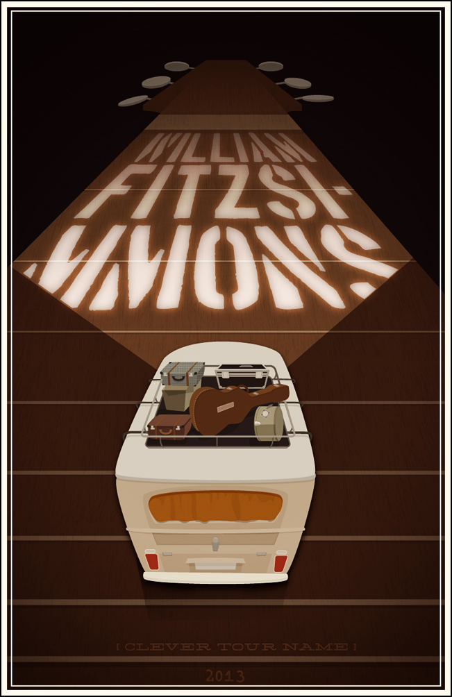 FINAL- William Fitzsimmons Fake Gig Poster - image 6 - student project
