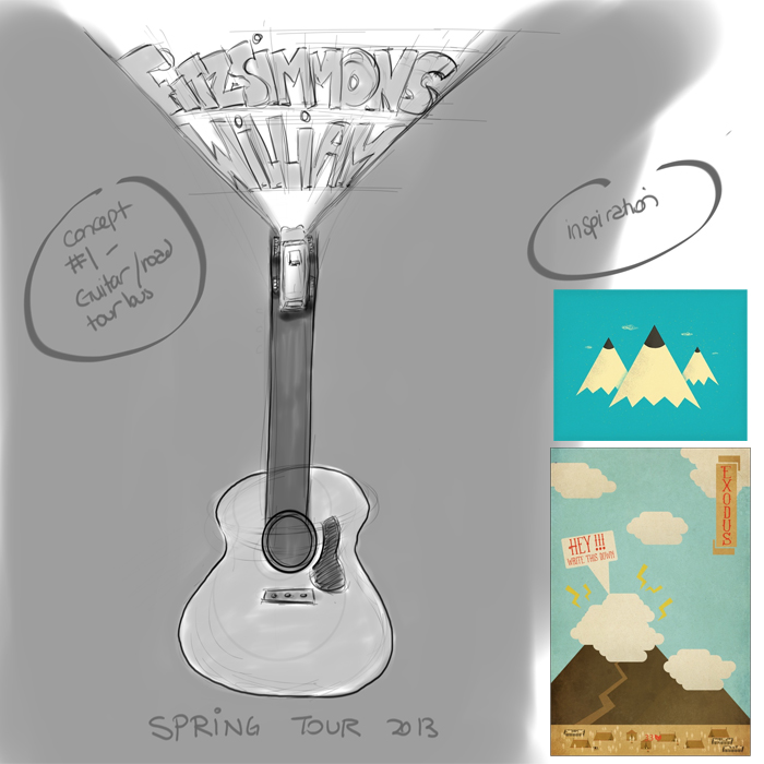 FINAL- William Fitzsimmons Fake Gig Poster - image 10 - student project