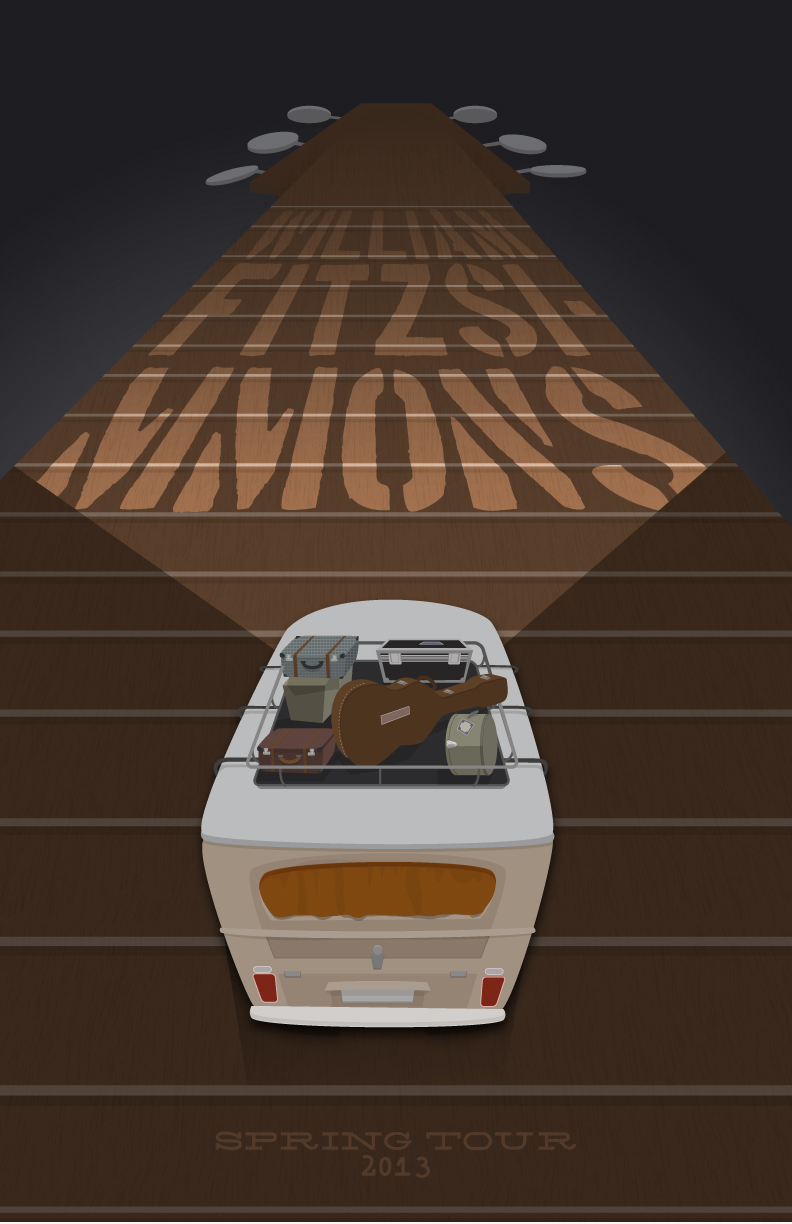 FINAL- William Fitzsimmons Fake Gig Poster - image 7 - student project