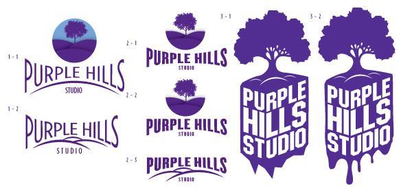 Purple Hills Studio Logo & Personal Monogram - image 3 - student project
