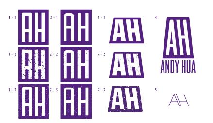 Purple Hills Studio Logo & Personal Monogram - image 7 - student project