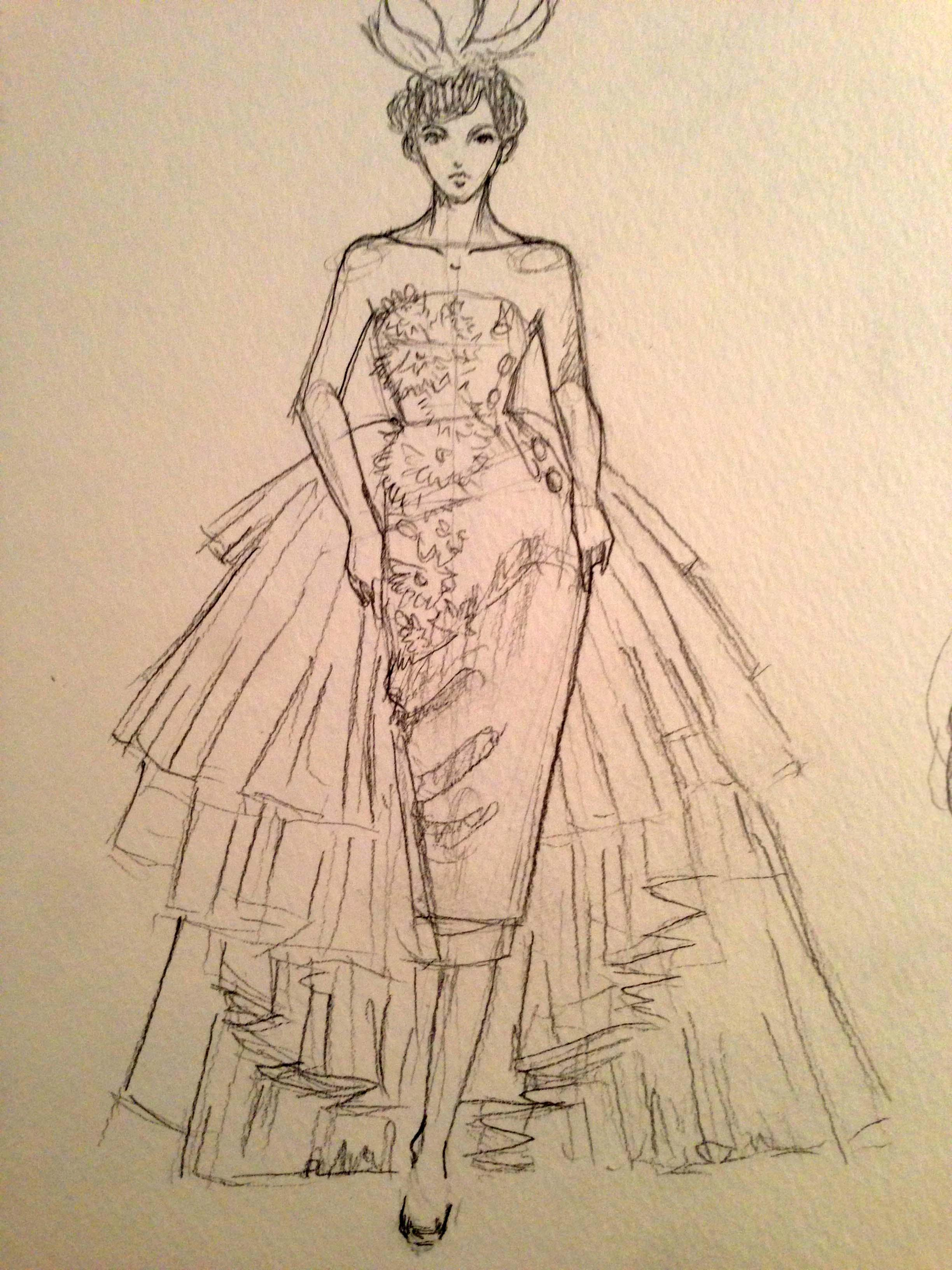 SKETCHES: Flouncy,Feminine and Full-bodied - image 6 - student project