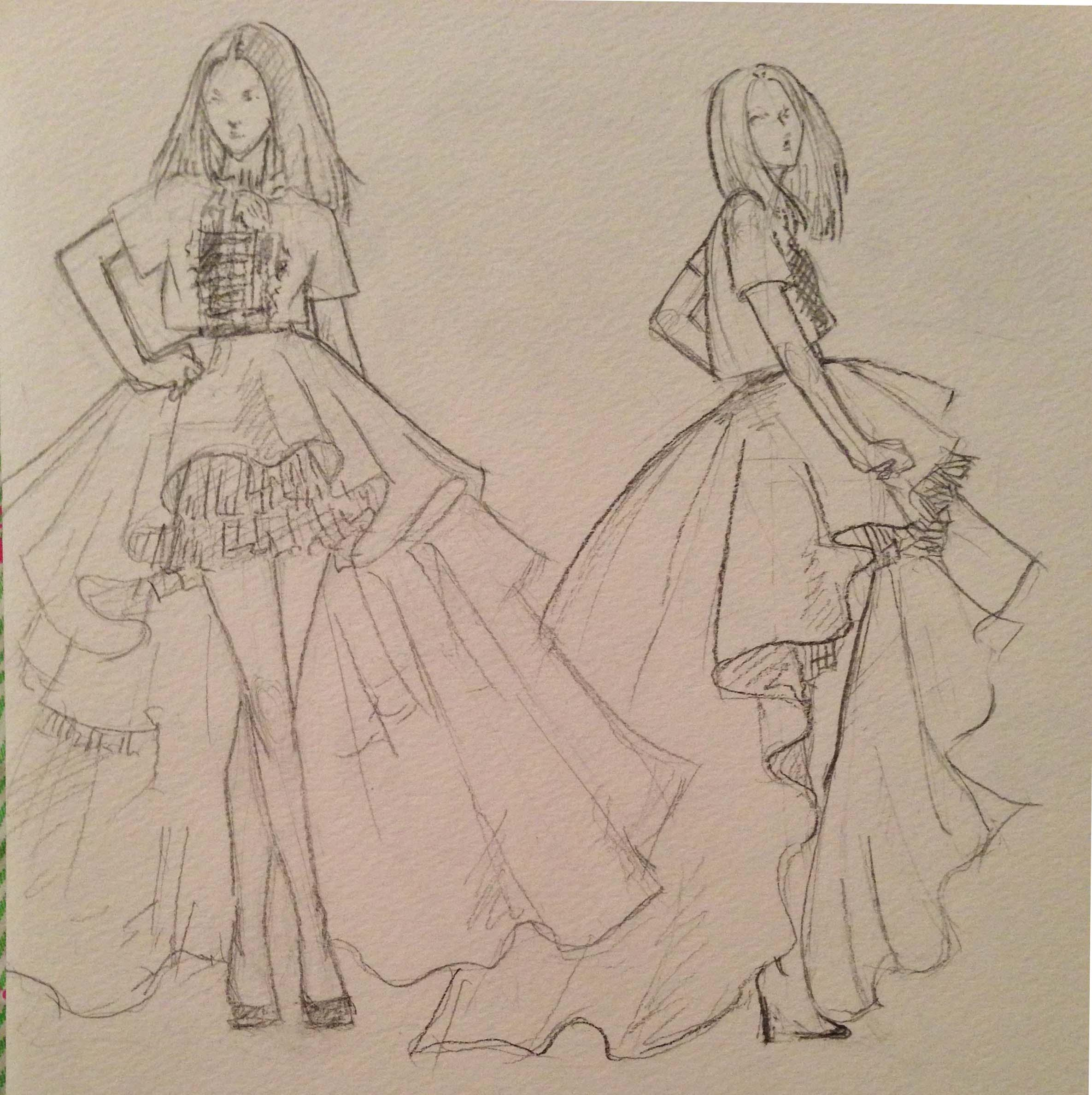 SKETCHES: Flouncy,Feminine and Full-bodied - image 2 - student project