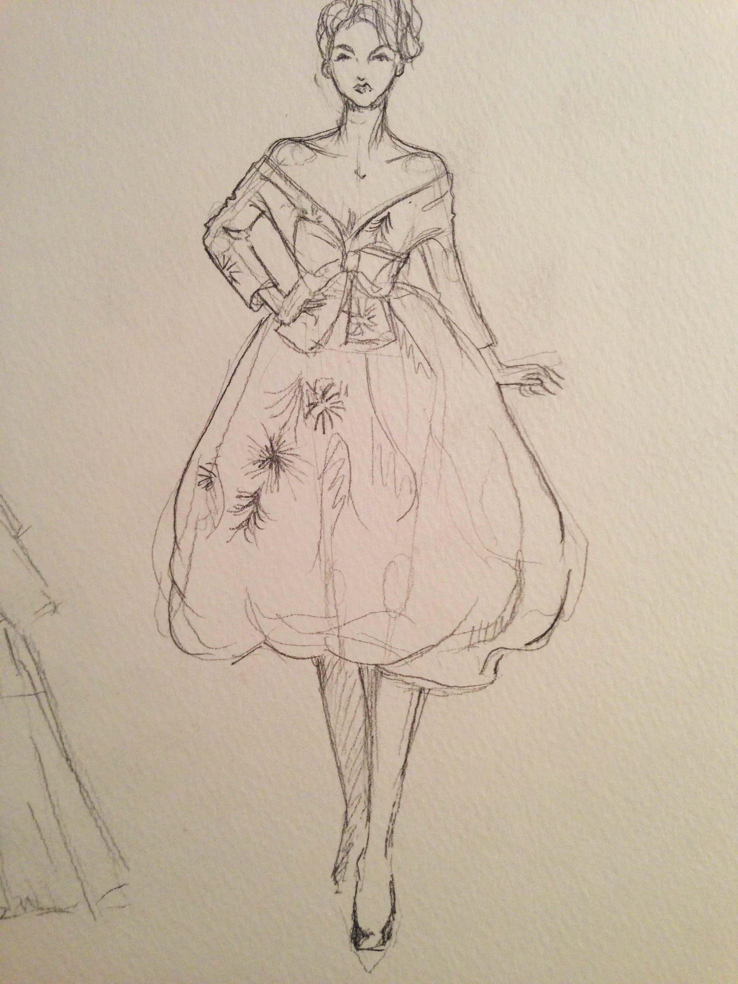 SKETCHES: Flouncy,Feminine and Full-bodied - image 8 - student project