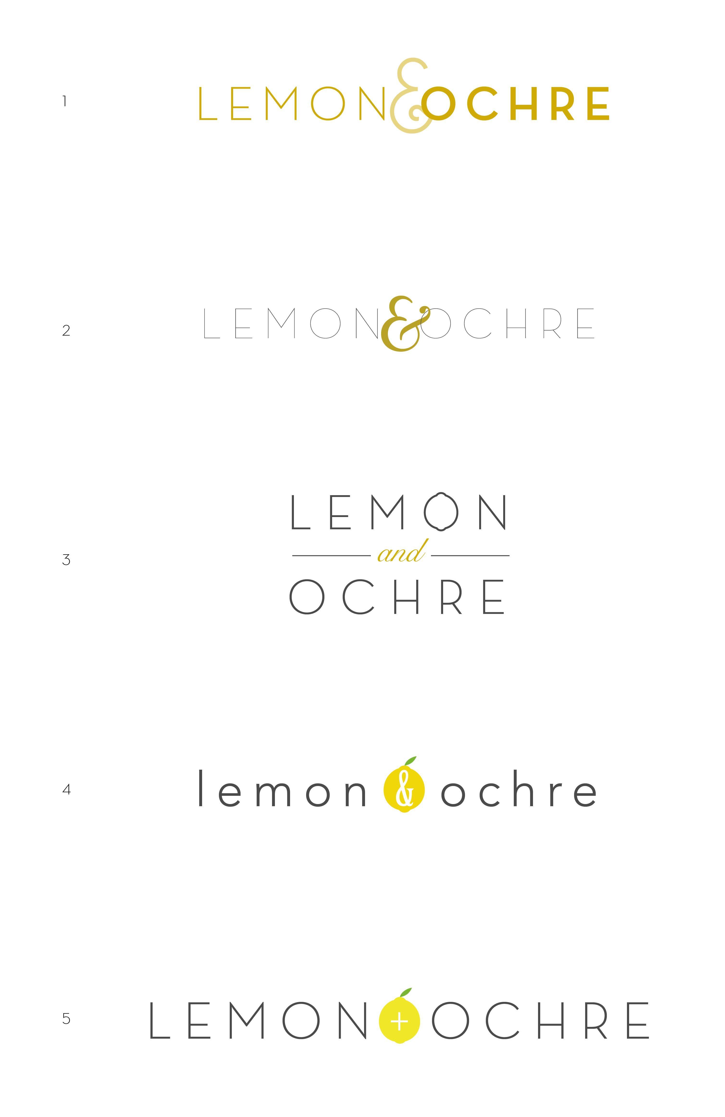 Lemon & Ochre Logo - image 3 - student project