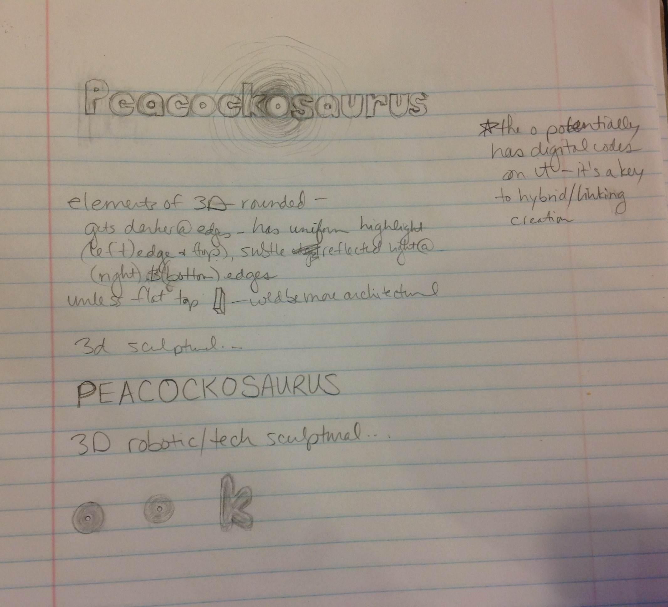 Peacockosaurus - image 5 - student project