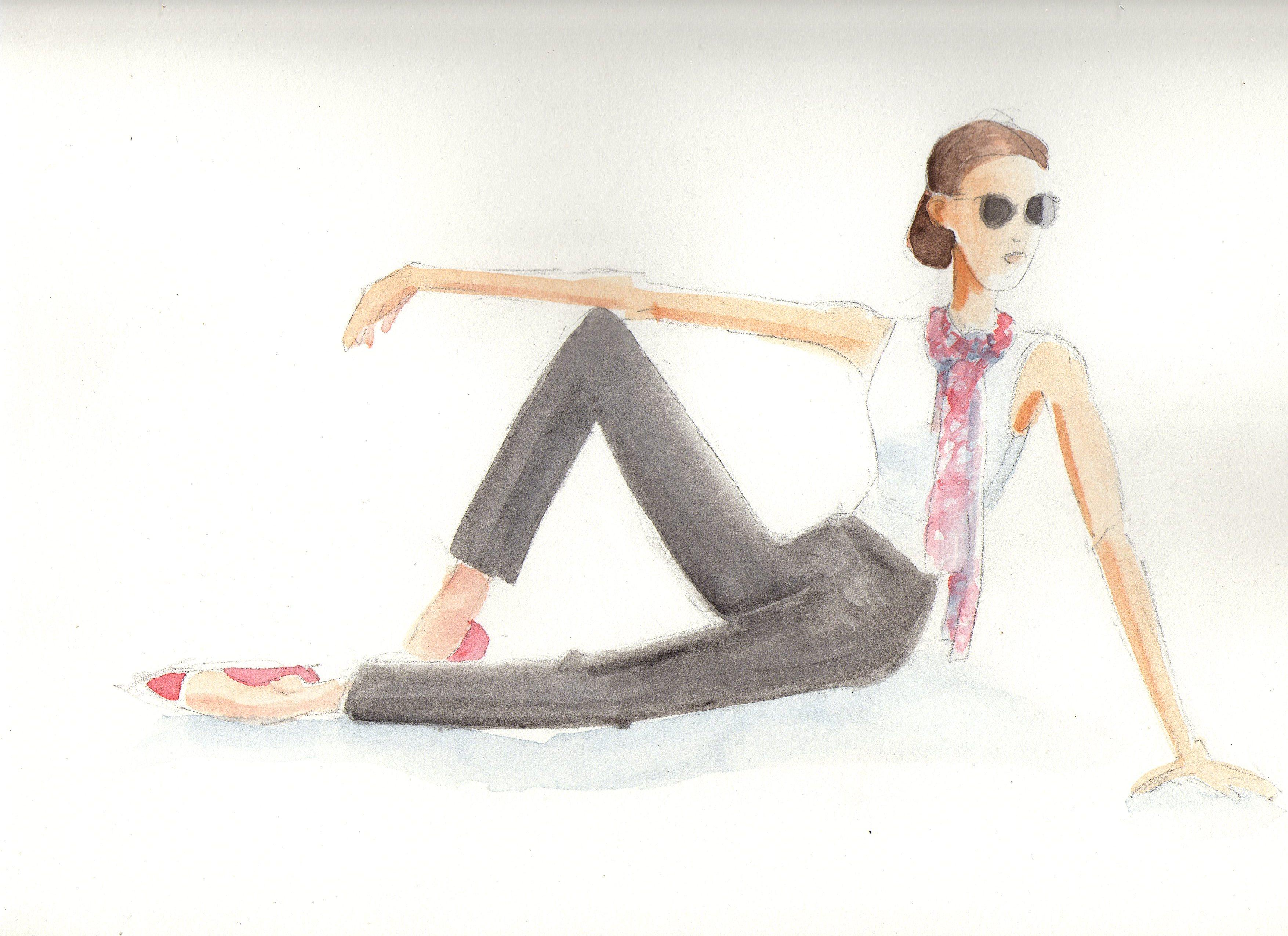 Fun with Watercolor Fashion Mashup - image 2 - student project