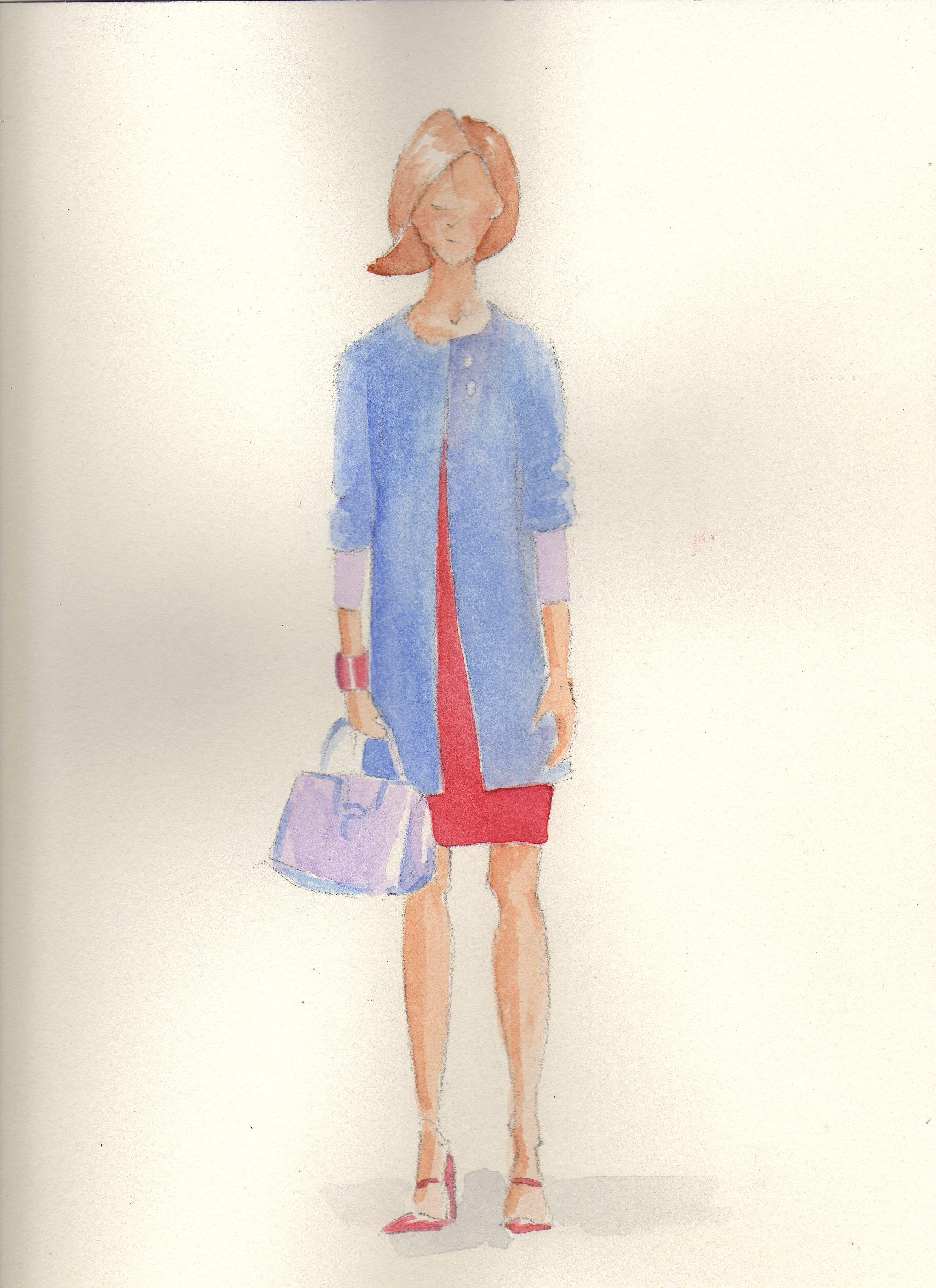 Fun with Watercolor Fashion Mashup - image 4 - student project