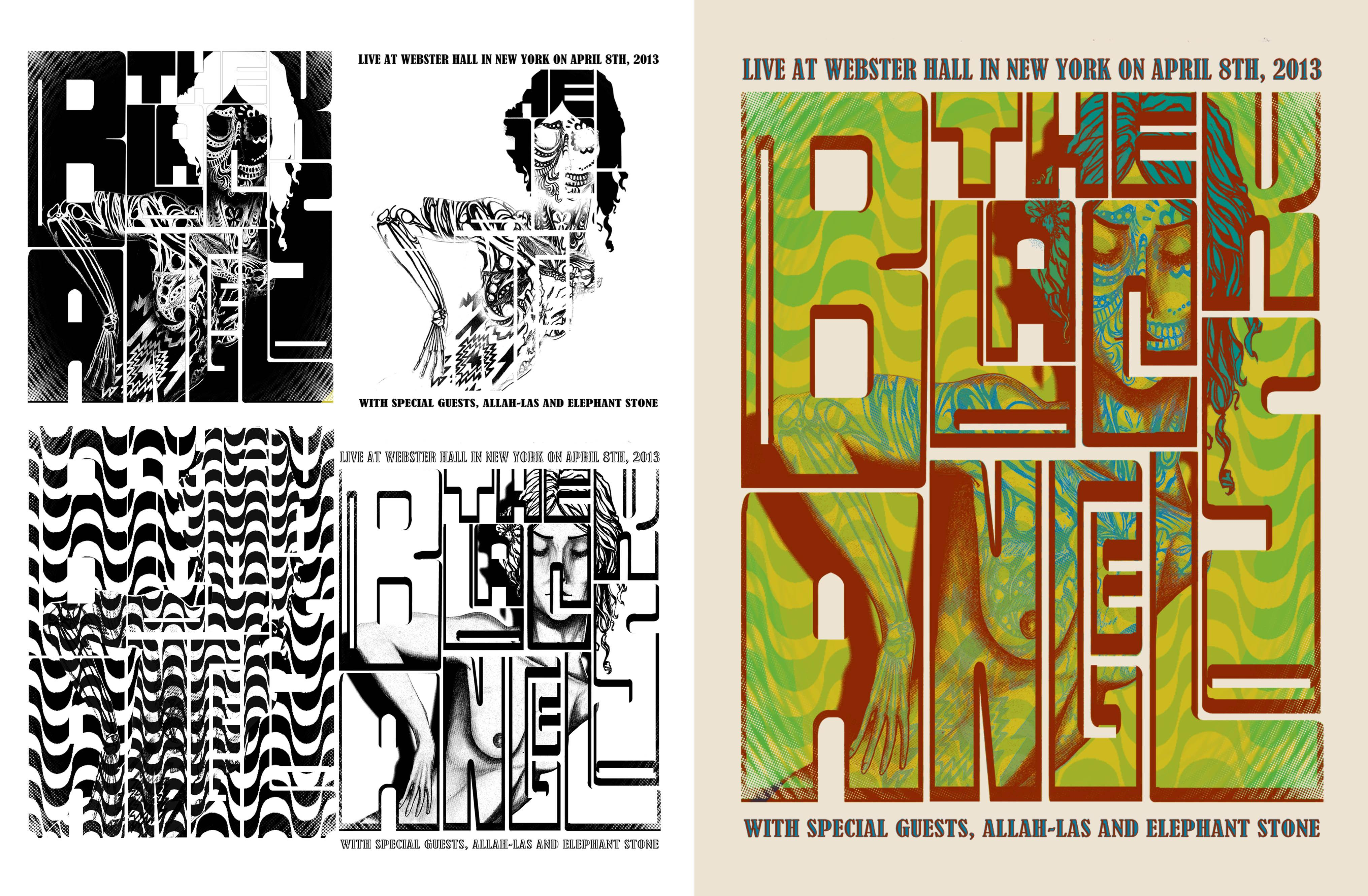The Black Angels NYC Webster Hall Poster - image 2 - student project
