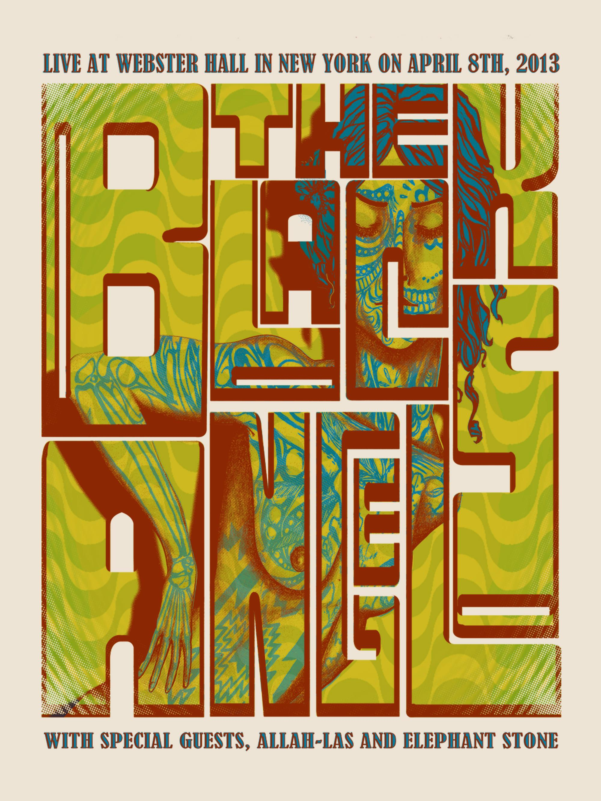 The Black Angels NYC Webster Hall Poster - image 1 - student project