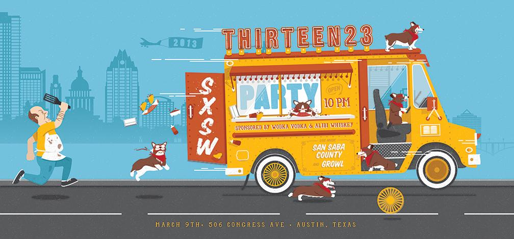 thirteen23 SXSW Poster - image 1 - student project