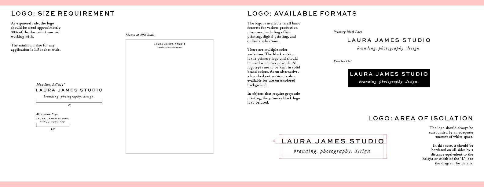 Laura James Studio Brand guide - image 6 - student project