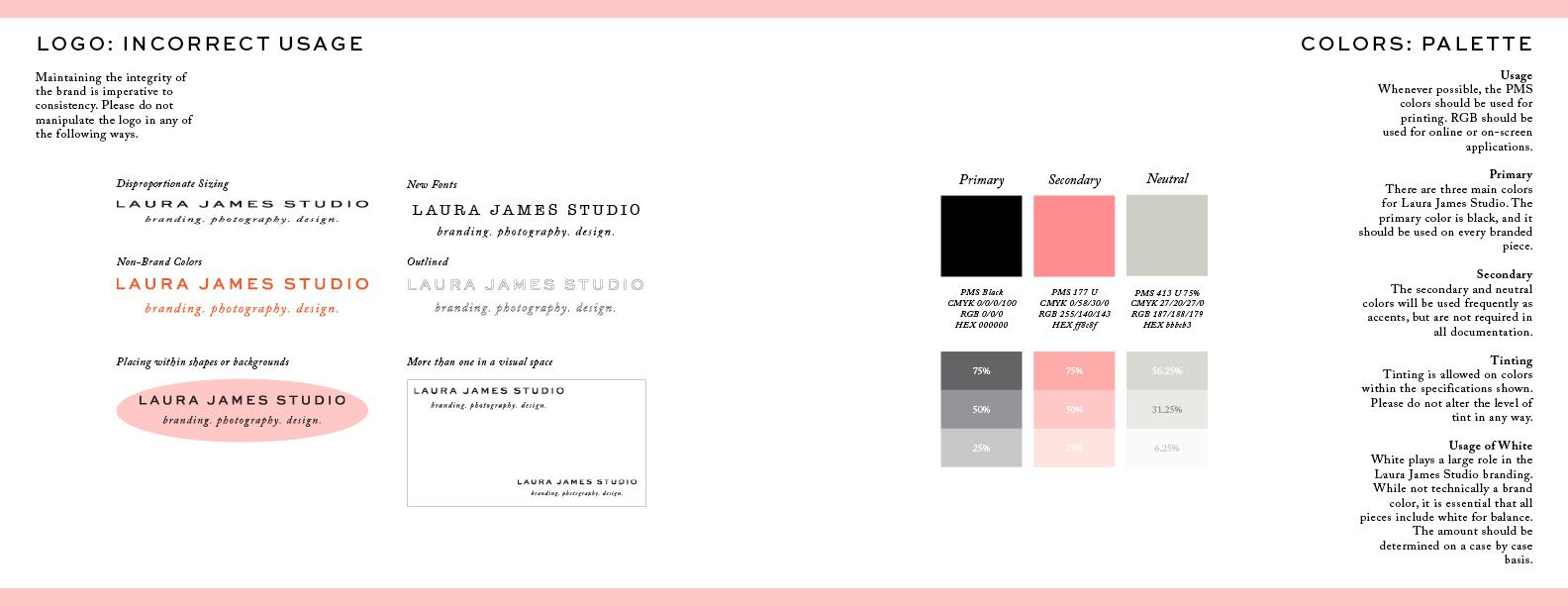 Laura James Studio Brand guide - image 8 - student project
