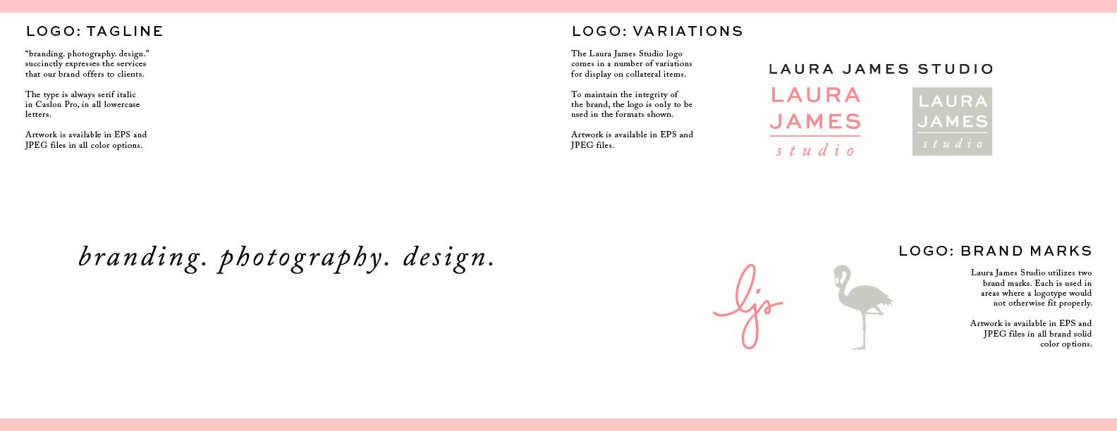 Laura James Studio Brand guide - image 7 - student project