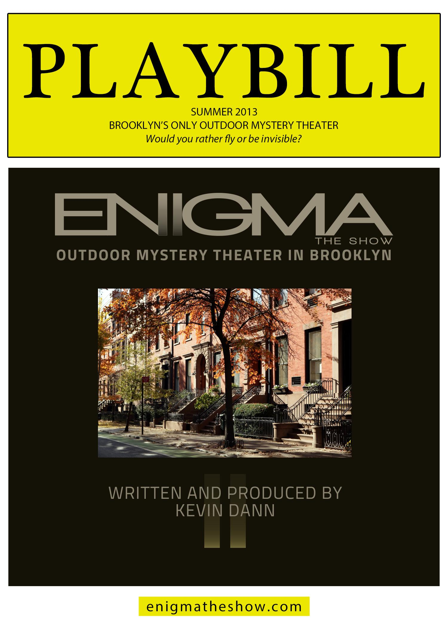 ENIGMA: THE SHOW orientation map - image 3 - student project