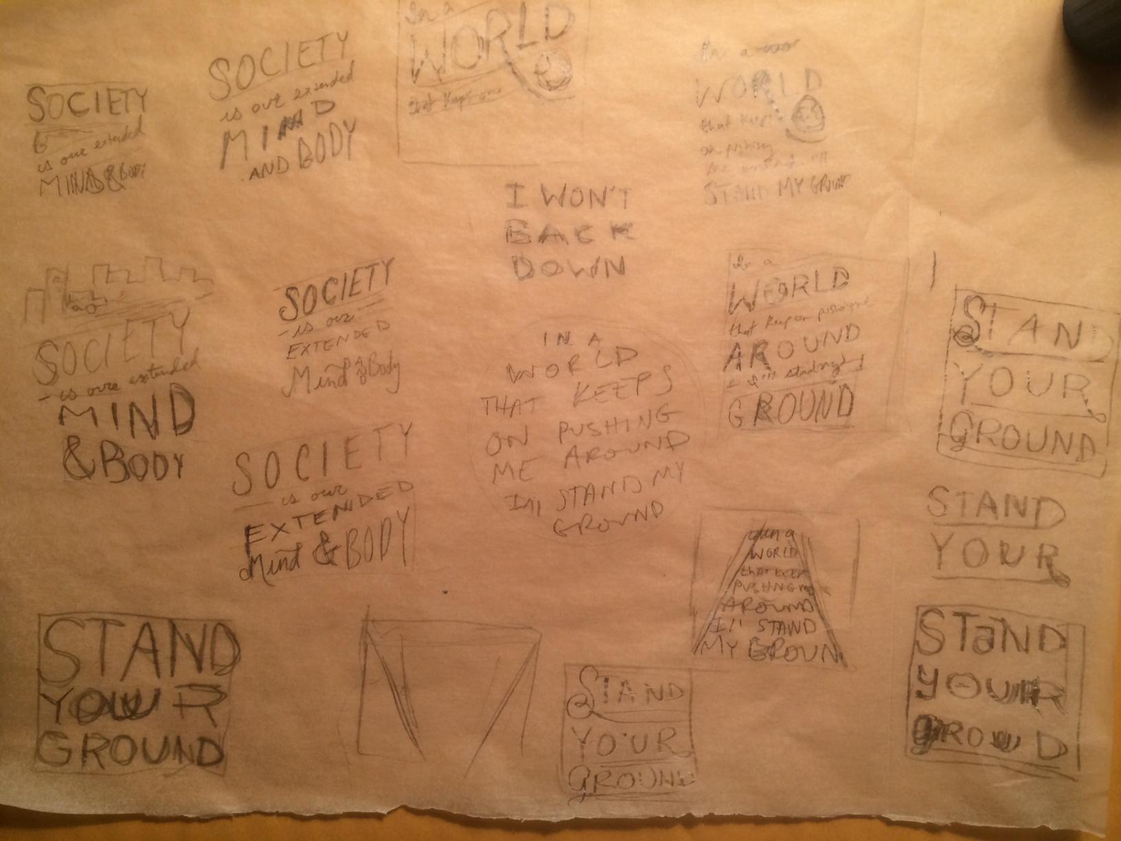 Jackson 5 / logo reinterpretation  & Tom Petty - Stand Your Ground    - image 8 - student project
