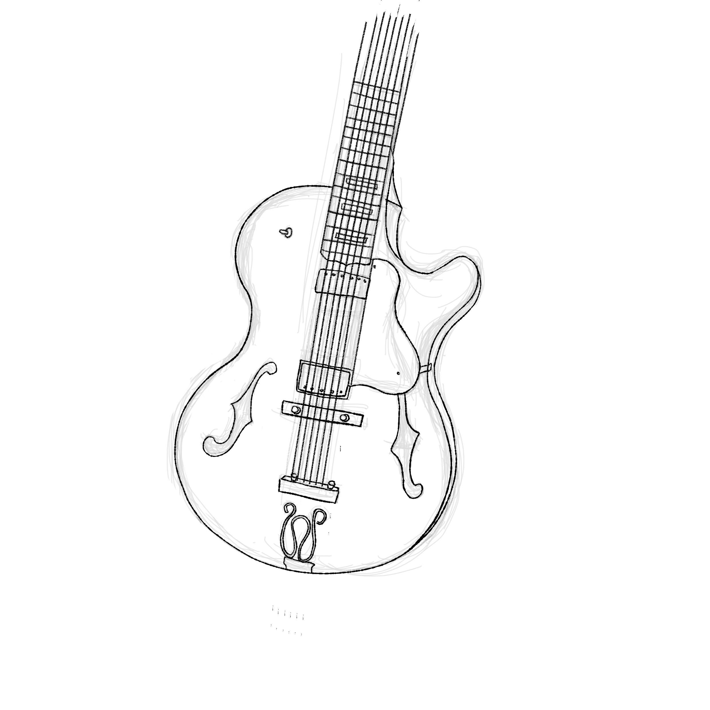 guitar ink - image 1 - student project