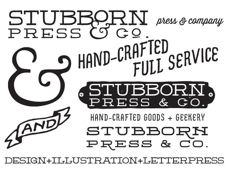 Stubborn Press & Company Logo - image 2 - student project