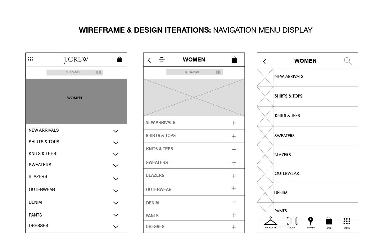 J.Crew Mobile App Design - image 8 - student project