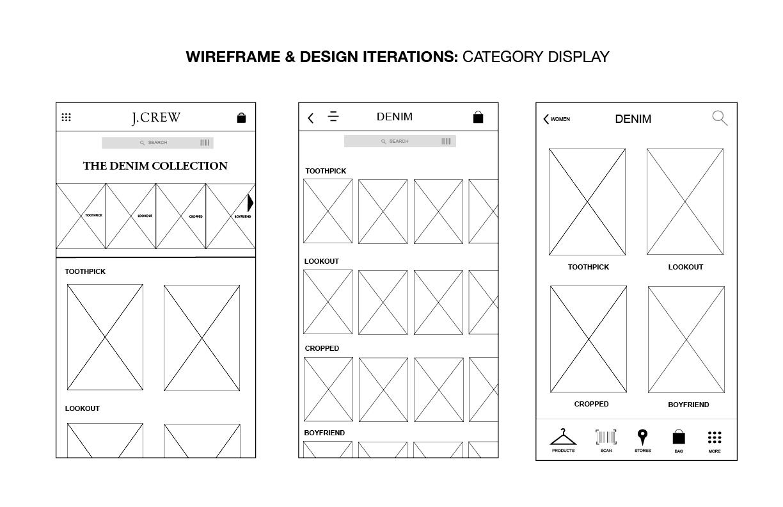 J.Crew Mobile App Design - image 9 - student project
